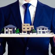 ビジネスマンと家イメージ